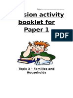 Families and Household Revision Guide
