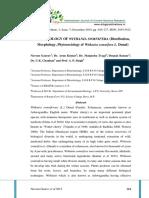 MORPHOLOGY OF WITHANIA SOMNIFERA (Distribution, Morphology, Phytosociology of Withania somnifera L. Dunal)