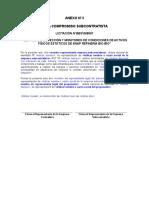 Anexo N°3 - Acta Compromiso Subcontratistas