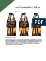 Coke Engineers Its Orange Juice