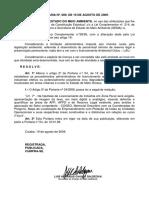 089 de 19 de Agosto de 2009-Licenciamento de Atividades Em Zona Rural