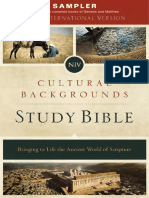 NIV Cultural Backgrounds Study Bible Sampler