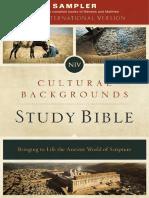 NIV Cultural Backgrounds Study Bible Sampler