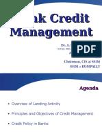 Credit Management in Banks - Basics