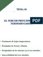 Tercer principio Termodinamica