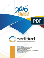 Certified Calendar 2016