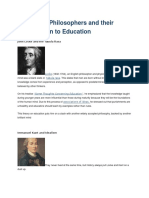 10modernphilosophersandtheircontributiontoeducation-131021112312-phpapp02