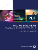 Mediul european, stare si perspectiva 2015