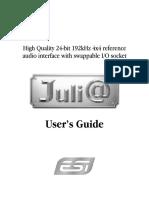ESI Juli@ English Audio Interface Manual
