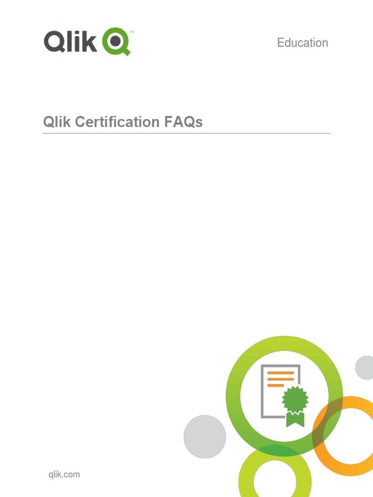 Qlik Certification Program Faqs V4 1 Multiple Choice Test