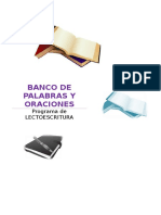 Banco de Palabras y Oraciones Por Letras Editable IMPORTANTE