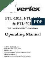 Yaesu FTL X011 User Manual