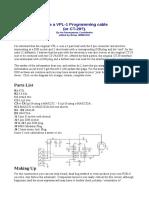 Make a VPL-1 Programming Cable
