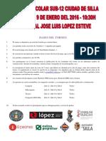 III Abierto Escolar Sub-12 Ciudad de Silla