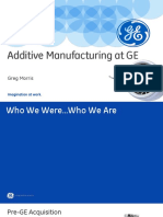 Additive Manufacturing at GE
