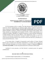 Decisión TSJ interpuesto por NICIA MALDONADO