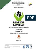 Plan de Emergencias ICBF Sede Dirección General.
