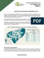Intercensal Yucatán 2015