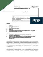 ABPE E004-2004 - Conexões Soldáveis de Polietileno PE - Especificação