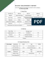 Vibration Measurement Report