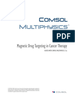 Magnetic Drug Targeting Comsol