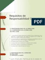 Requisitos de Responsabilidad Gerencial