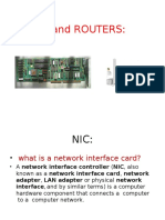 Nic and Routers
