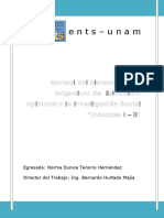 Manual Del Alumno para la asignatura de estadística aplicada a la investigación social