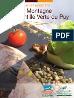 Recettes porc de montagne et lentilles vertes du Puy