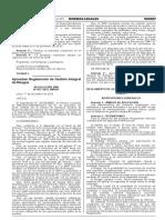 Reglamento Gestión Integral de Riesgos y RO