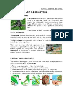 Unit 3  Ecosystems  | Ecosystem | Habitat