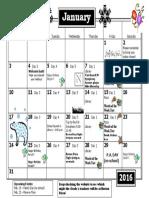 grade 3 calendar jan 2016