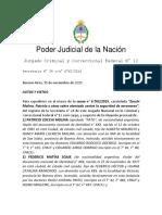 Zocchi Molina Patricio y Otros s. Atentado Contra La Seguridad de Aeronaves