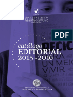 Catalogo Editorial Utem 2015-2016
