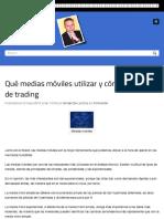 Qué medias móviles utilizar y cómo, técnicas de trading | Ismael De La Cruz
