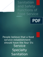 Sanitation and Safety Functions of Food Service