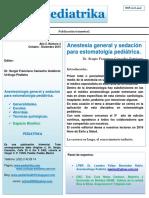 Anestesiología y sedación.