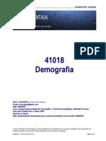 41018 - Demografia