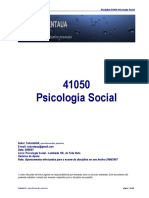 41052 - Psicologia Social