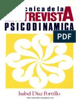 Isabel Diaz Portillo - Tecnicas de La Entrevista Psicodinamica
