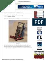 How to Determine Digital Multimeter Accuracy