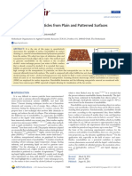 Removal of Nanoparticles Fm Plain Patterned Surfaces