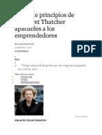 Los Siete Principios de Margaret Thatcher Aplicables a Los Emprendedores