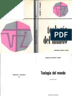 Teología del Mundo. PDF