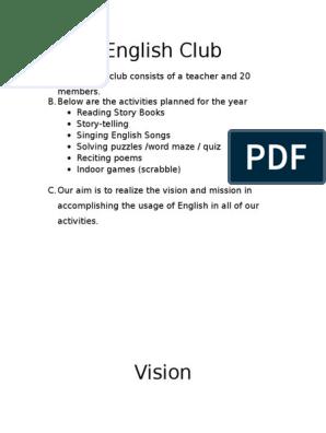 English Club 2 Docx Education Theory Linguistics