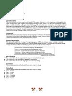 spanish 2 syllabus fitzmorris raypec