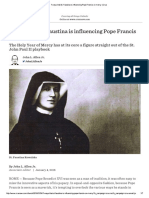 7 Ways That St Faustina is Influencing Pope Francis on Mercy