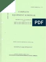 Ferret Complete Equipment Schedule
