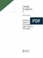 Cambridge KET 4 Book