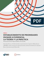 Lectura 1 Establecimiento de Prioridades en Base a Evidencia La Teoria y La Practica (1)